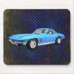 Voiture de sport 1967 de Corvette : Finition bleue Tapis De Souris