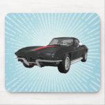 Voiture de sport 1967 de Corvette : Finition noire Tapis De Souris