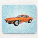 Voiture de sport 1967 de Corvette : Finition orang Tapis De Souris