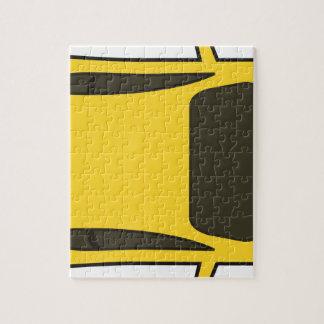 Voiture de sport jaune puzzle