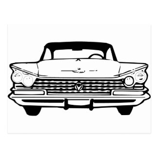 Voiture de style ancien dans noir ou le blanc cartes postales