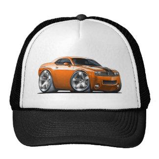 Voiture d'orange de challengeur de Dodge Casquettes