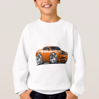 Voiture d'orange de challengeur de Dodge Sweatshirt