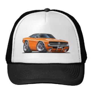 Voiture d'orange de chargeur de Dodge Casquettes
