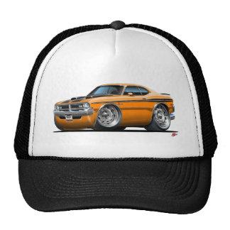 Voiture d'orange de démon de Dodge Casquette Trucker