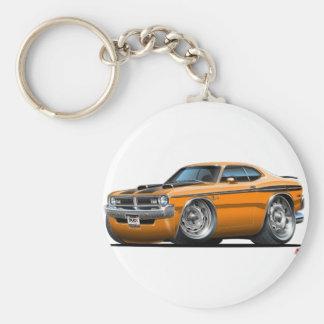 Voiture d'orange de démon de Dodge Porte-clés