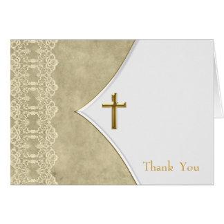 Voiture ene ivoire de Merci de baptême de baptême Cartes