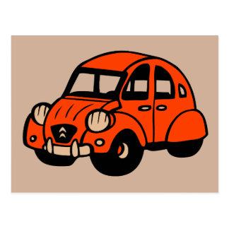 voiture française vintage de 2 cv carte postale