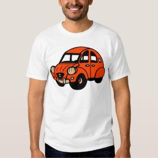 voiture française vintage de 2 cv t-shirts