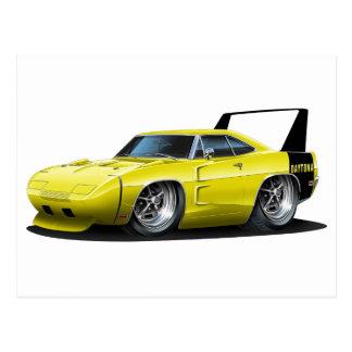 Voiture jaune de Dodge Daytona Carte Postale