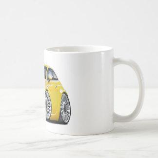 Voiture jaune de Fiat 500 Mug