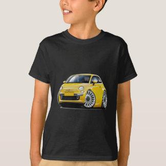 Voiture jaune de Fiat 500 T-shirt