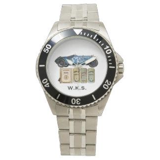 Voiture vintage bleue montres bracelet