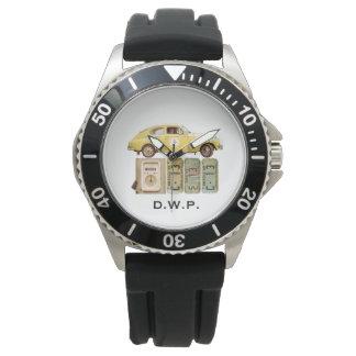 Voiture vintage jaune montres bracelet