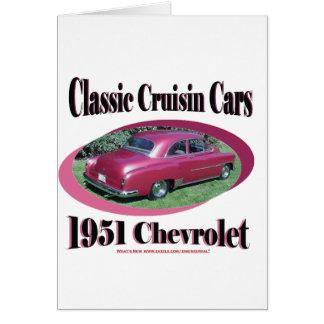 Voitures classiques de Cruisin Chevrolet 1951 Carte De Vœux