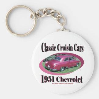 Voitures classiques de Cruisin Chevrolet 1951 Porte-clé Rond