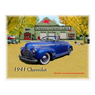 Voitures classiques de Cruisin Chevy 1941 Carte Postale