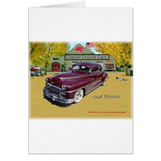 Voitures classiques de Cruisin Desoto 1948 Carte De Vœux