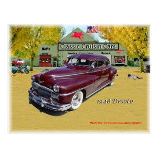 Voitures classiques de Cruisin Desoto 1948 Carte Postale