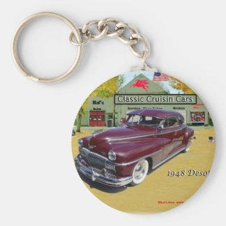 Voitures classiques de Cruisin Desoto 1948 Porte-clé Rond