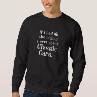 voitures classiques sweatshirt