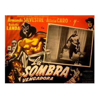 Voitures de lobby de héros masquées par Mexicain Carte Postale