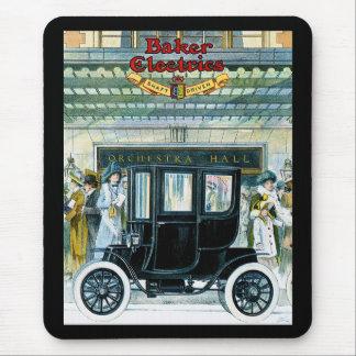 Voitures électriques de Baker - annonce vintage Tapis De Souris