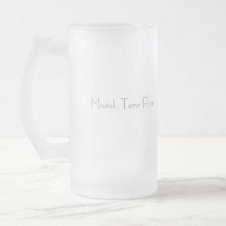 Voitures et modèles mug en verre givré