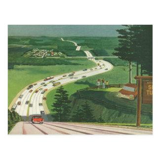 Voitures pittoresques vintages de voyage par la carte postale