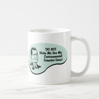Voix de l'environnement de scientifique mug