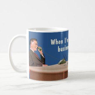 voix d'homme d'affaires mug blanc