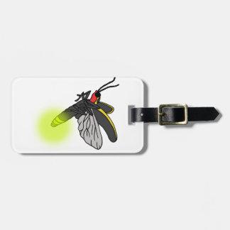 vol 2 d'insecte de foudre allumé étiquettes bagages