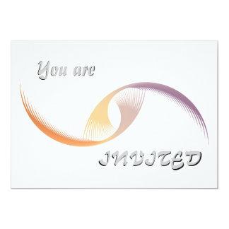 Vol abstrait carton d'invitation  12,7 cm x 17,78 cm