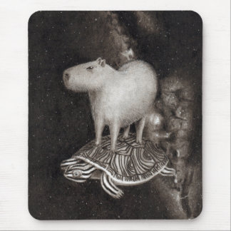 Vol de Capybara et de terrapin par le dessin de Tapis De Souris