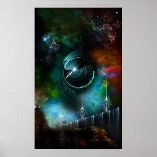 Vol de l'affiche de mur d'art de fractale de posters