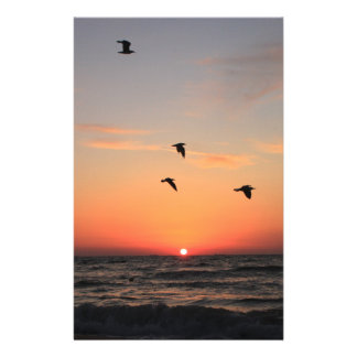Vol de lever de soleil papier à lettre personnalisé