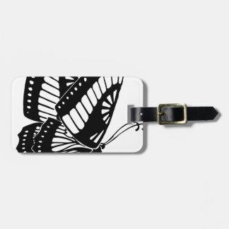 Vol de papillon dans le vent étiquette à bagage