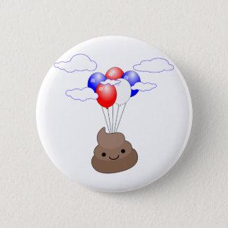 Vol de Poo Emoji avec des ballons Badges