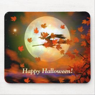Vol de sorcière de Halloween Tapis De Souris
