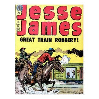 Vol de train de Jesse James Carte Postale