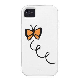 Vol orange de papillon étui iPhone 4