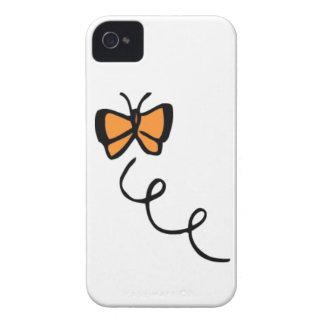 Vol orange de papillon coque iPhone 4 Case-Mate