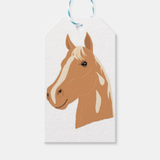 Vol rouge le cheval heureux étiquettes-cadeau