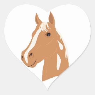 Vol rouge le cheval heureux sticker cœur