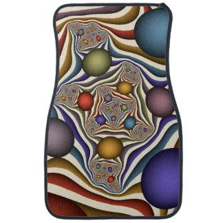Volant, art coloré, moderne, abstrait de fractale tapis de voiture