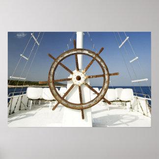 Volant de bateau affiche