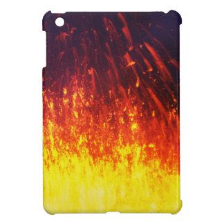 Volcan d'éruption de nuit : lave de feux étui iPad mini