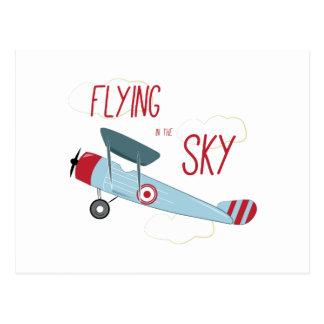 Voler dans le ciel cartes postales