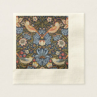 Voleur de fraise par William Morris Serviette En Papier