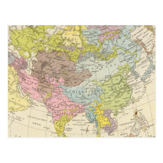 Volkerkarte von Asien - carte de l'Asie